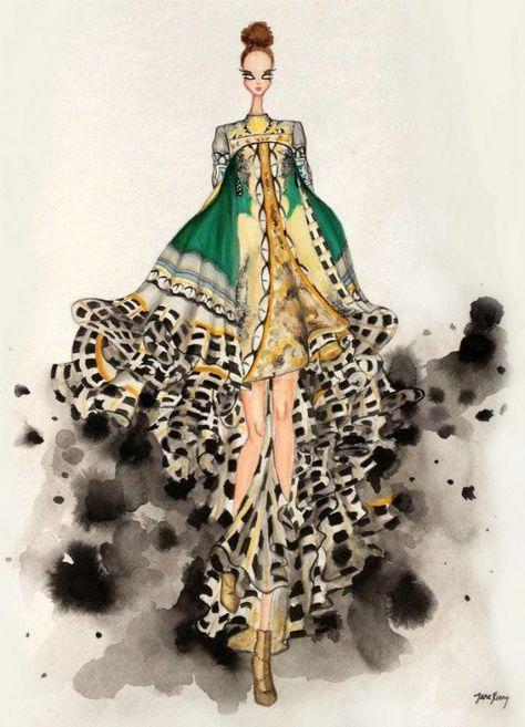 Mary Katrantzou Fashion Illustration competition