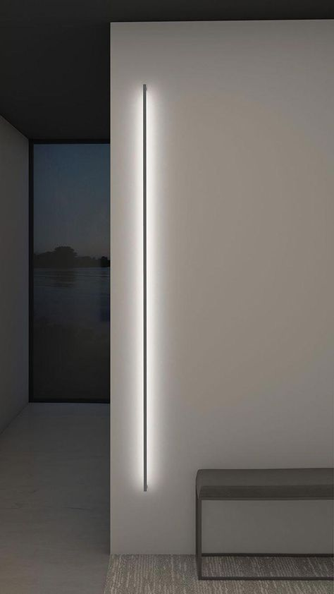 Thin line indirect wall light by sonneman a way of light 2814 16 3 Architectural Lighting Design, Modern Lighting Design, Modern Design, Interior Lighting Design, Modern Exterior Lighting, Led Light Design, Architectural Presentation, Architectural Models, Architectural Drawings
