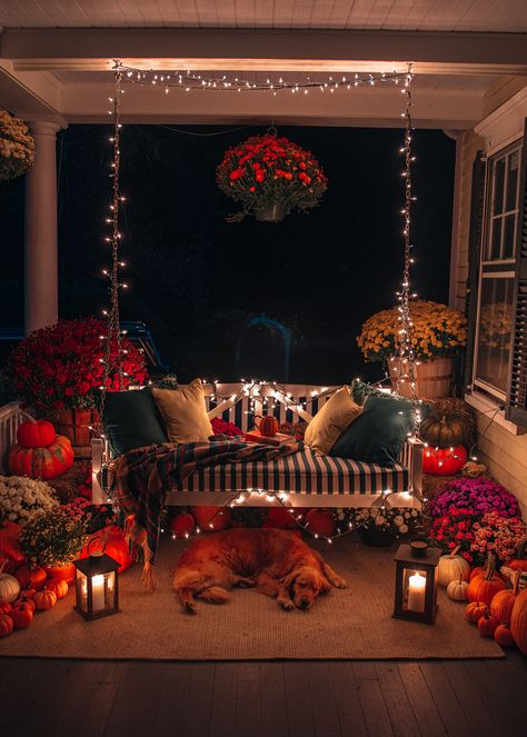 fall home decor Fall Porch Decorating - Classy Girls Wear Pearls