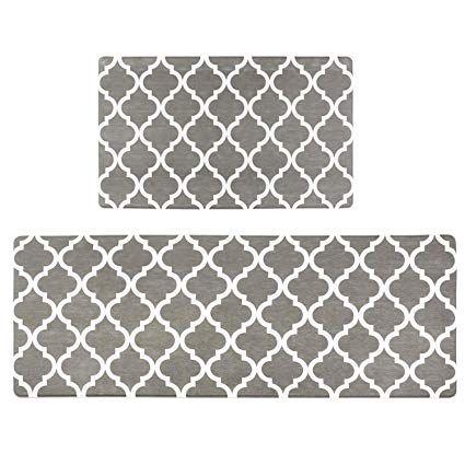 OVERSIZED Elegant Comfort Anti Fatigue Standing Comfort Kitchen Mat Non-Slip