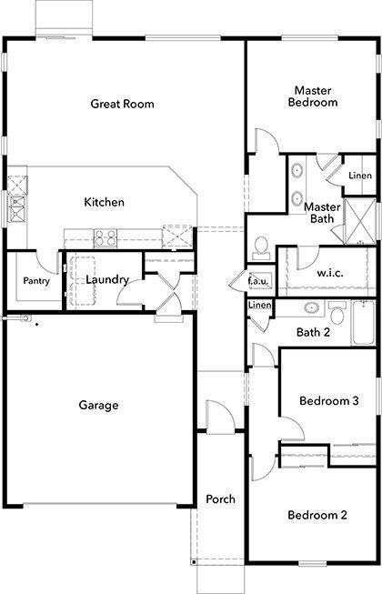 Plan 1629 New Home Floor Plan In Falling Water By Kb Home Kb Homes House Plans Floor Plans
