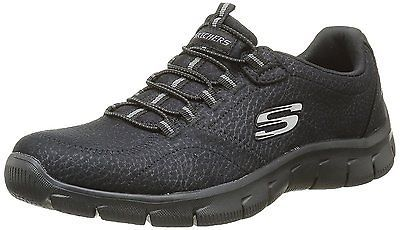 SKECHERS EMPIRE TAKE Charge Womens Black Sports Shoes