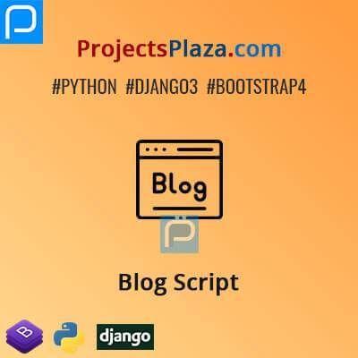 Blog Script In Django In 2020 Script Blog Virtual Environment