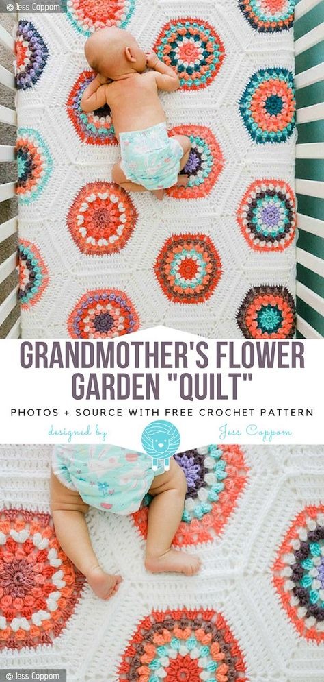 Grandmothers Flower Garden Pattern Crochet | Free Patterns