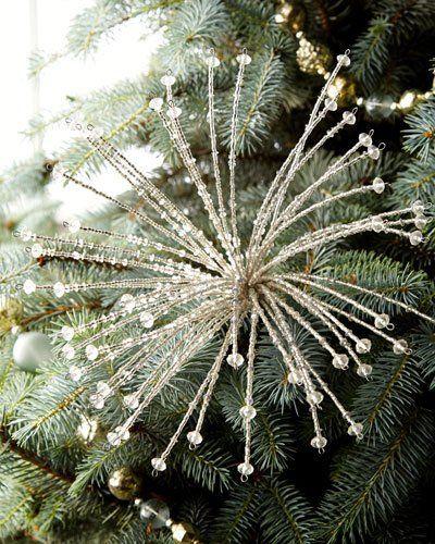 Acrylic Glass Beaded Picks Glam Christmas Tree White Christmas Ornaments White Christmas Trees