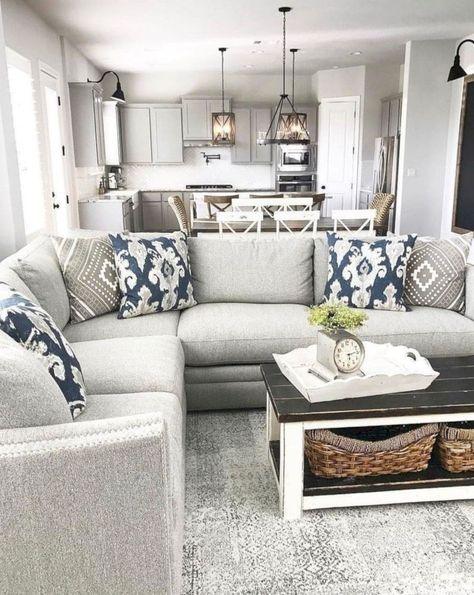 Farmhouse Style Sectional : farmhouse, style, sectional, Trendy, Farmhouse, Living, Sectional, Couch, Ideas