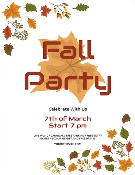 Fall Flyer Templates Free Free Fall Flyer Templates For