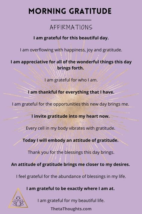 Begin your day with a grateful heart using these morning gratitude affirmations. Listen to the positive affirmation meditation recording on YouTube for 21 days to experince profound shifts and change in your life. Gratitude | Morning Routine | Morning Ritual #grateful