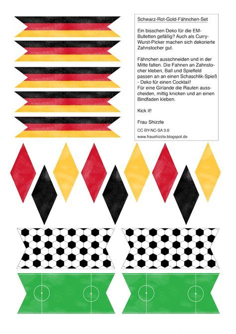 Diy Toothpick Flags And Miniature Bunting For Decorating The Em Snacks Of Course Only If You Are Chee Deutschland Flagge Etiketten Selber Machen Selber Machen