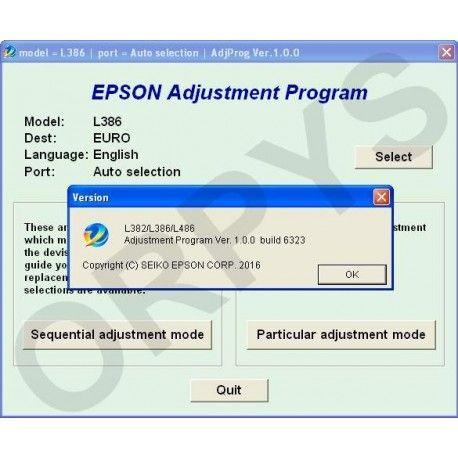 Epson L382, L386, L486 Adjustment Program | Free in 2019