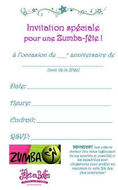 Carte invitation anniversaire zumba spaxdesign carte invitation anniversaire zumba stopboris Choice Image