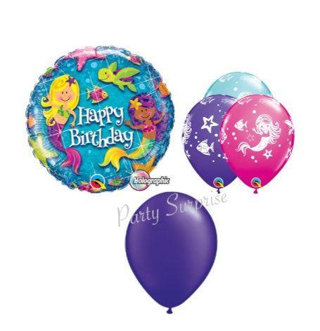 Mermaid Balloon Package Mylar Latex Balloon TwirlzTail Select Your Package Mermaid Birthday Party Decor Under the Sea Nautical Mermaid