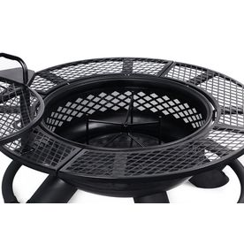 Big Horn 47 24 In W Black Steel Wood Burning Fire Pit Lowes Com