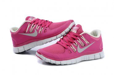 e0bf0245f7053 Nike Free 5.0+ Womens Bright Pink White Running Shoes - Click Image to Close