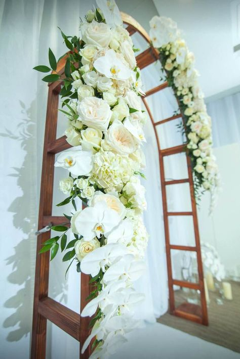 Wedding Arch With Hydrangea Roses Phalaenopsis Orchids Spray Roses Online Flower Delivery Flower Delivery Wedding Flowers