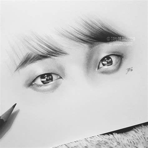 Bts Drawings Pencil Bts Eyes Bts Drawings Eye Drawing