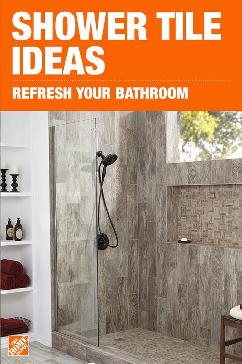 Transform Your Bathroom With A Shower Tile Refresh Discover The Different Tile Styles And Home Depot Bathroom Home Depot Bathroom Tile Bathroom Remodel Shower