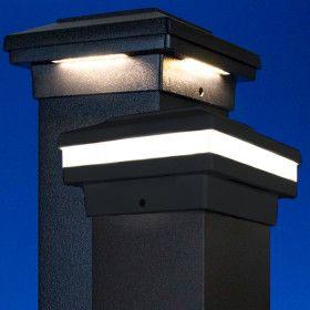 Low Voltage Post Cap Lighting Decksdirect Post Cap Outdoor Post Lights Concrete Fence Posts Low voltage fence post lights