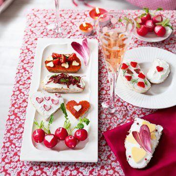 Des cœurs pour l'apéritif // hearts, food, cute, love