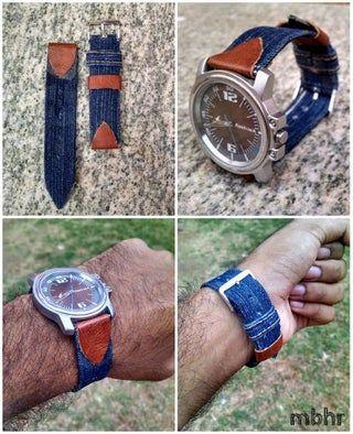 Diy Denim Watch Strap In 2020 With Images Denim Diy Watch