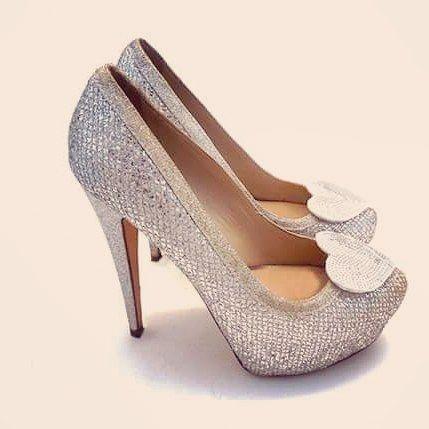Modern Cinderella Our Sequins Hearts Coquet Highheels Szpilki Buty Hearts Sequins Cekiny Party Karnaw Shoe Clips Shoes Modern Cinderella