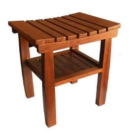 Fabulous Pollenex Wood Teak Freestanding Shower Seat Ptb10 Products Creativecarmelina Interior Chair Design Creativecarmelinacom
