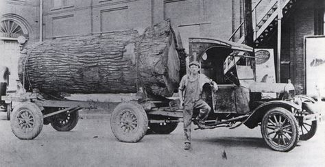 For Model Tt Truck Hauling A Massive Log In Missouri Ford Trucks Lifted Ford Trucks Trucks
