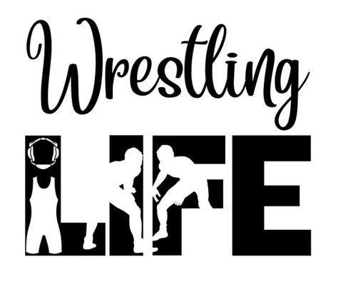 Wrestling Life SVG Cutting File for Cricut Wrestling Quotes, Wrestling Shirts, Wrestling Wwe, Cricut Svg Files Free, Vinyl Tumblers, Cricut Explore Air, Sports Mom, Vinyl Signs, Cycling Art