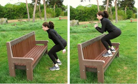 Bench Park Workout Routine. Take advantage of the spring weather and exercise outdoors with this awesome bench workout.