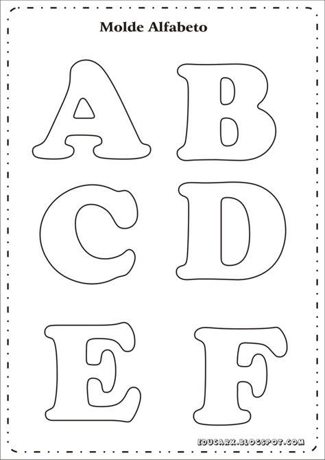 Moldes De Letras Grandes Imprima Aqui Letras Para Cartazes Molde Alfabeto Modelo De Letras