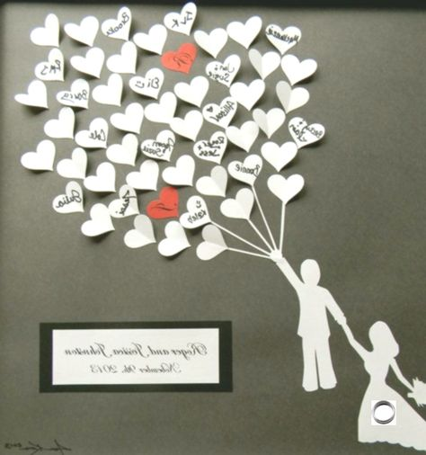 Wedding guest book alternative 3D paper hearts lovely bridal shower gift. modern guestbook for the bride and groom great gift, #Alternative #book #bridal #Bride #Gift #great #Groom #Guest #guestbook #Hearts #Lovely #Modern #Paper #Shower #Wedding