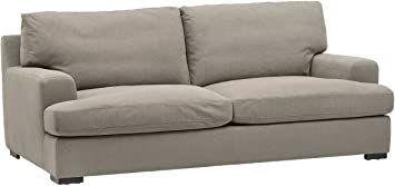 "Amazon Brand – Stone & Beam Lauren Down-Filled Oversized Sofa Couch, 89""W, Slate Sectional Sleeper Sofa, Loveseat Sofa, Sofas, Armchair, Furniture Decor, Living Room Furniture, Living Rooms, Sofa Manufacturers"