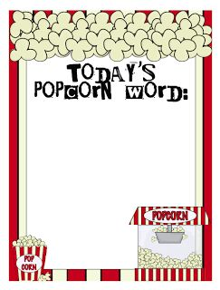 Mrs. Lirette's Learning Detectives: A Freebie and A Giveaway! Today's Popcorn Word...Sight Words