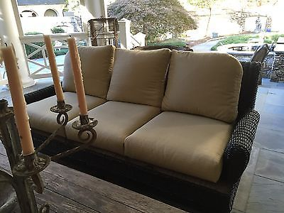 Very Sturdy Wicker Daybed Couch,similar To $5,000 Ralph Lauren British  Isles One   Daybed Couch, Daybed And Loveseats