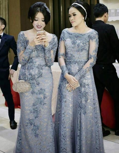 89+ Foto Model Kebaya Modern Long Dress Terbaik