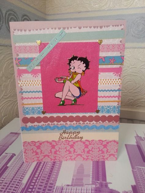 A5 Betty Boop Birthday Card My Card Creations Pinterest Betty