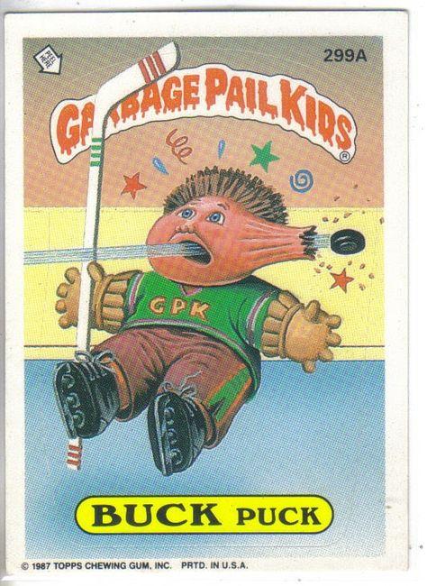 Garbage Pail Kids 1987 299a Buck Puck Garbage Pail Kids Garbage Pail Kids Cards Pail