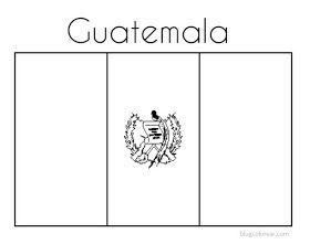 Colorear Dibujo De Bandera Nacional Guatemala Simbolos Patrios Feliz Dia Del Maestro Bandera De Guatemala