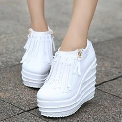 a5414738d6 Chicloth Womens Hidden Wedge Sneakers Platform High Heel Boots in 2019 |  Chicloth Prom Dresses | Hidden wedge sneakers, High Heel Boots, Wedge  Sneakers
