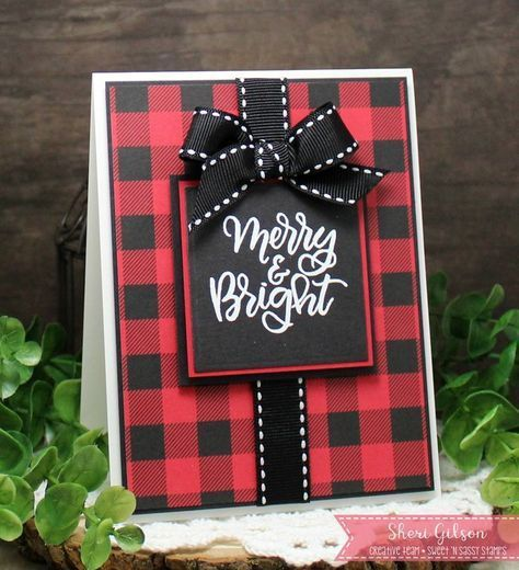 Image Result For Pinterest Card Ideas Using Plaid Paper Diy Christmas Cards Homemade Christmas Cards Christmas Cards Handmade