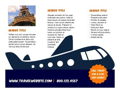 Tri-fold Travel Brochure is perfect for product promotion and - travel brochure