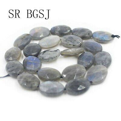 13x18mm Natural Brazilian Aquamarine Flat Oval Gemstone Loose Beads 15/'/'