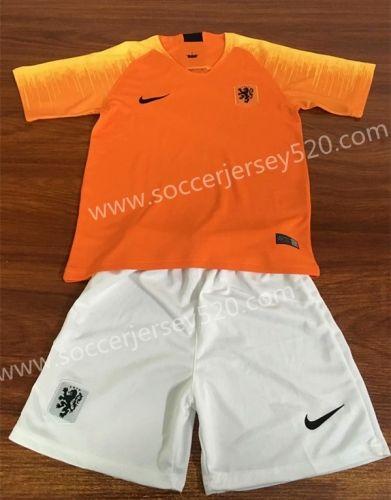 2018 19 Netherlands Home Orange Kid Youth Soccer Uniform Soccer Uniforms Youth Soccer Soccer