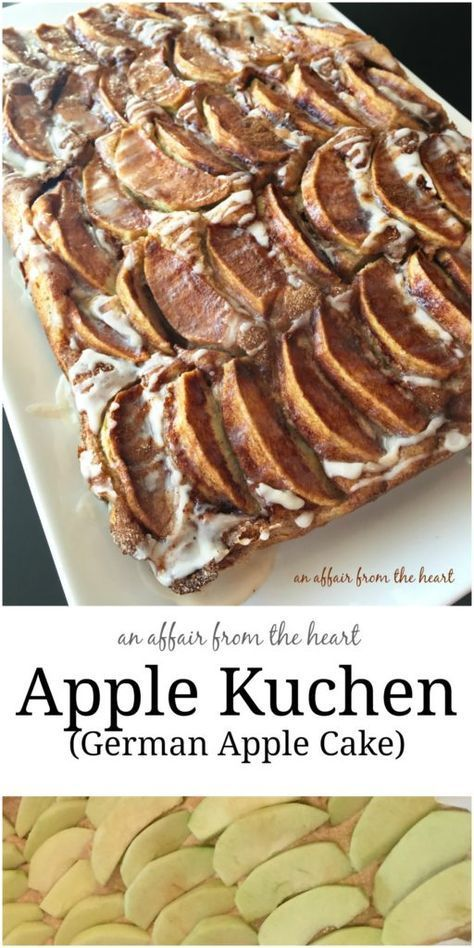 Apple Kuchen German Apple Cake Recipe German Apple Cake German Desserts Traditional German Desserts