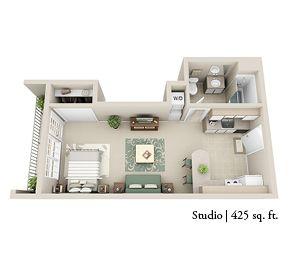 Studio 425 Sq Ft Apartment Floor Plans House Plans Sims House Design
