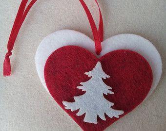 Corazón de fieltro y goma por AlettaStore en Etsy