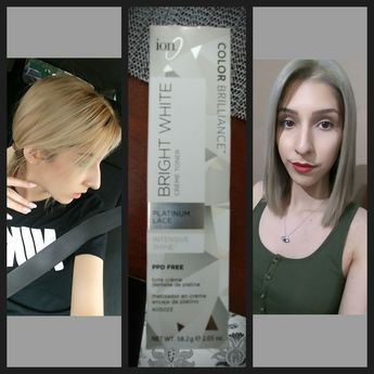 Toner Used Ion Color Brilliance In Platinum Lace Mix 2 Part 10 Developer With 1 Part Ion Ion Color Brilliance Temporary Blonde Hair Dye Warm Brown Hair Color