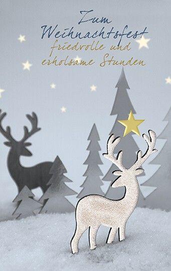 Weihnachts Spendenkarte Mit Hirsch Fur Deutsche Kinderkrebs Stiftung Mit Bildern Weihnachtsgrusse Grusskarte Spenden
