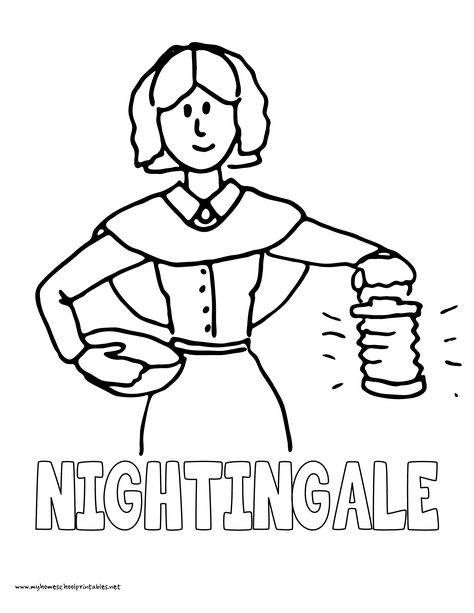 History Coloring Pages Volume 4 Florence Nightingale For Kids