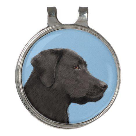 Labrador Retriever Black Painting Original Dog Art Golf Hat Clip Zazzle Com Dog Art Labrador Retriever Labrador Retriever Dog